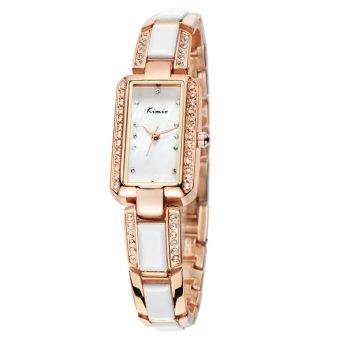 Đồng hồ nữ dây thép không gỉ Kimio KW538S-RGY01 mặt trắng (Vàng)
