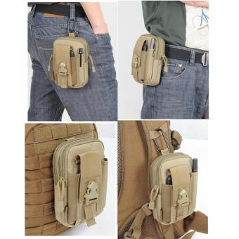 Túi đeo hông Sport waist bag cell phone camera pouch bag soldier bag h03 (Nâu)