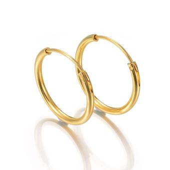 Bộ 2 bông tai inox thời trang 16 mm BT233 (Vàng)
