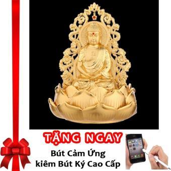 Tượng Phật Thích Ca Mâu Ni Kiêm Lọ Nước Hoa Trang Trí Ô Tô Rồng Vàng Cao Cấp F93 (B) (Vàng Kim) + Tặng bút cảm ứng kiêm bút ký