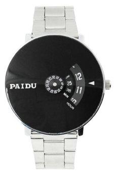 Đồng hồ nam dây inox Paidu K0N01 (Trắng Mặt Đen)