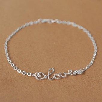Vòng tay nữ yêu thương bạc S925 Italia Mini Jewelry LDE0013 trang nhã