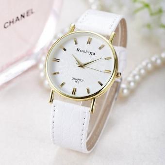 Đồng hồ nữ dây da thời trang Rosivga IDW 6745 (Dây trắng)