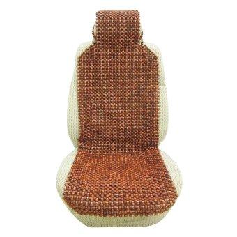 Lót ghế ô tô hạt gỗ phân 2 có gối đầu Auto Quoc Te (Nâu)