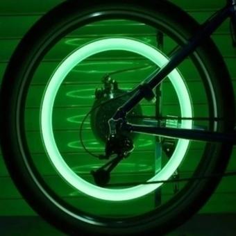 Bộ 2 đèn LED gắn van bánh xe máy ô tô HQ206131-1