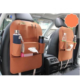 Túi đựng đồ 6 ngăn sau ghế xe hơi, ô tô loại tốt đa năng N89 (Nâu bò)