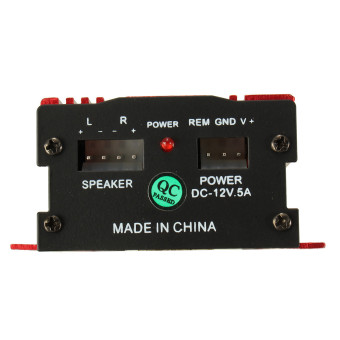 500W 12V Mini Hi-Fi Stereo Audio Amplifier AMP for Auto Car Motorcycle Radio MP3