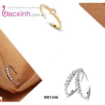 Nhẫn nữ trang sức bạc Ý S925 Bạc Xinh - nhẫn đẹp RR1348