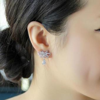 Bông Tai Nữ Hoàng Bạc 925 (Trắng)