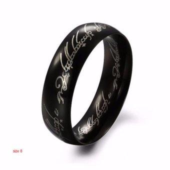 Nhẫn nam đen chúa tể những chiếc nhẫn khắc chữ cổ cá tính