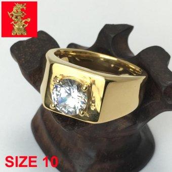 NHẪN NAM INOX MẠ VÀNG 24K CAO CẤP