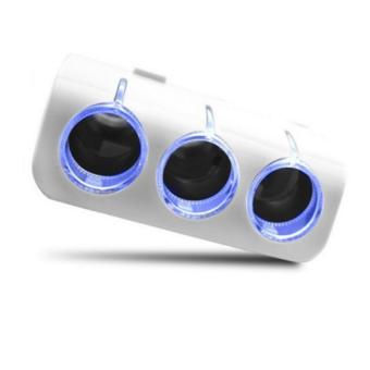 Bộ chia 3 tẩu và 2 cổng USB dành cho oto HQ STORE 0TI23 (trắng)