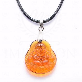 Dây chuyền đá mã não mặt Phật Di Lặc 2cm THE OXFORD 0666