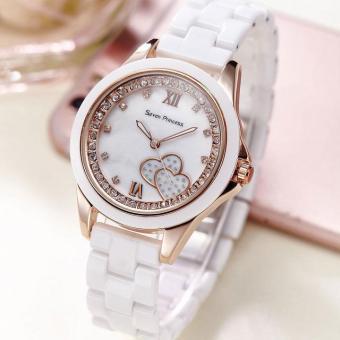 Đồng hồ nữ dây gốm sứ thời trang Gedi 7021 (Vỏ vàng)
