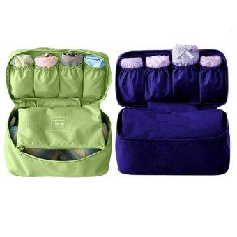 Bộ 2 túi đựng đồ lót du lịch Monopoly underwear (Xanh rêu - Xanh than)