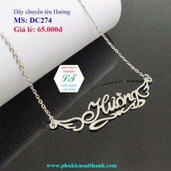 Dây chuyền Inox Nữ tên HƯỜNG siêu xinh DC274 (TRẮNG)
