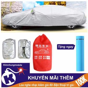 Bạt phủ ôtô 4 chỗ siêu nhẹ, chống xước, che mưa, chống bám bụi Kim Nhung + Loa 3 in 1