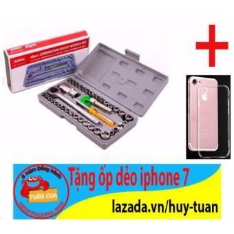 Bộ dụng cụ sửa chữa ô tô xe máy 40 món + Free ốp dẻo điện thoại iphone 7