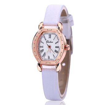 Đồng hồ nữ dây da tổng hợp YUHAO YU001-1 (Trắng)