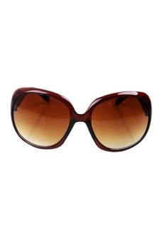 Women Celebrity Vintage RoSun Glasses Brown