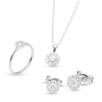 Bộ trang sức đá kim cương nhân tạo