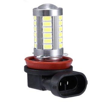 2Pcs H11 Fog Lights High Power Headlight 12V 5630 SMD 6000K (White Light) - intl