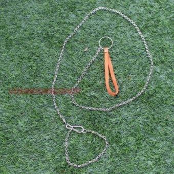 Dây Xích thú cưng inox cỡ nhỏ 140cm kèm vòng cổ
