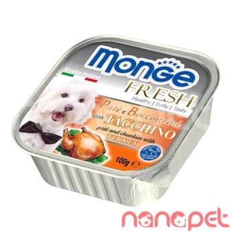 Pate Monge cho chó vị gà tây 100g