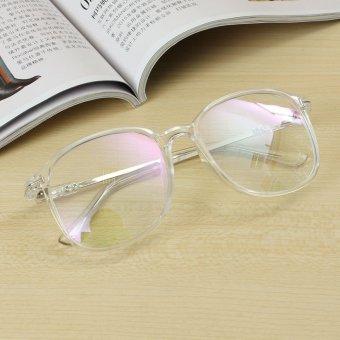 Unisex Full Rim Spectacles Transparent Eyeglass Frame Clear Glasses Eyewear Transparent - intl