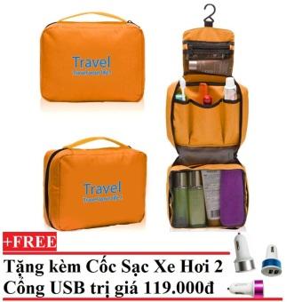 Túi đựng đồ cá nhân cao cấp Chodeal24h.vn (Cam) + Tặng Cốc sạc xe hơi 2 cổng USB