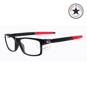 Gọng kính cận unisex K100 (Đen phối đỏ)
