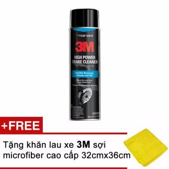 Tẩy rửa phanh xe ô tô 3M High Power Brake Cleaner 3M 0880 397g + Tặng kèm khăn 3M
