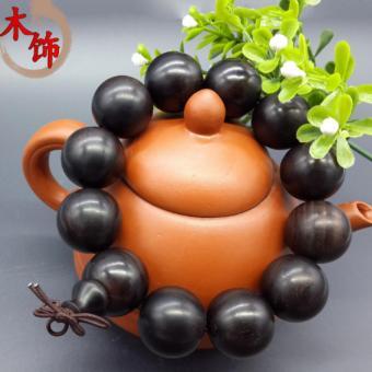 Vòng tay Phong thủy Gỗ Mun Quý Hiếm (13 hạt 17mm)