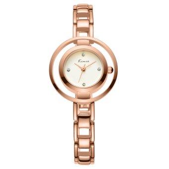 Đồng hồ nữ dây thép không gỉ Kimio KW6100M-RG01 mặt trắng (Đồng)