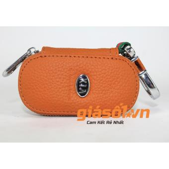 Bao da mịn chìa khóa hãng xe KIA (Nâu)