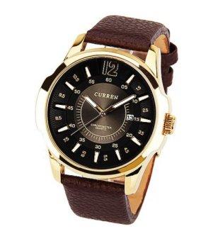 Đồng hồ nam dây da CURREN 8123 (Nâu)