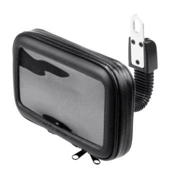 360 Degrees Rotation Motorcycle Mobile Phone Handlebar Mount Holder Waterproof Zipper Bag for HTC iPhone 5S Below 4.7 inch Size Phones GPS (Intl) - intl