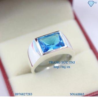 Nhẫn bạc nam đẹp mặt đính đá xanh dương NNA0065 - Trang Sức TNJ