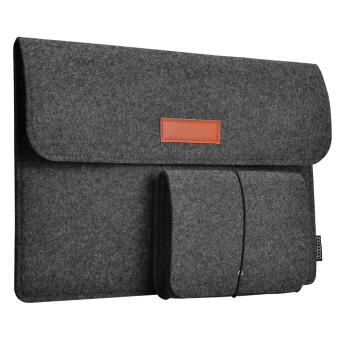 dodocool 13.3-Inch Felt Sleeve Cover Carrying Case Protective Bag 4 Compartments with Mouse Pouch for Apple 13