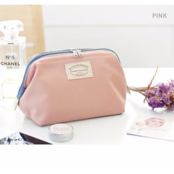 Túi đựng đồ mỹ phẩm không thấm nước kiểu Hàn Quốc (hồng nhạt)