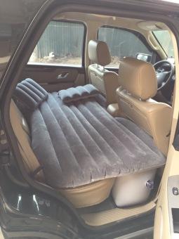 Giường hơi ô tô Nhung cao câp (Xám thẫm)