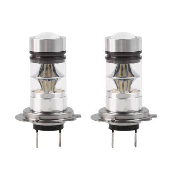 OH 2Pcs H7 6000K 100W LED 20-SMD Projector Fog Driving DRL Light Bulbs HID - intl