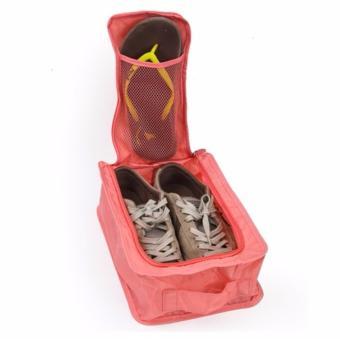 Túi đựng giày du lịch tiện ích (hồng cam)