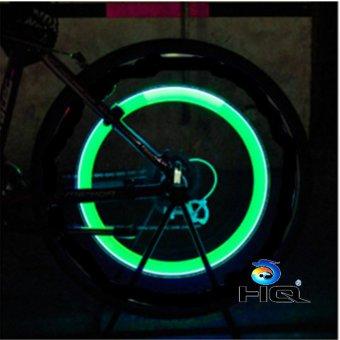 Bộ 4 Đèn LED Gắn Van Đổi Màu Cho Bánh Xe Máy Ôtô HQ STORE 1TI31-4B(xanh lá)