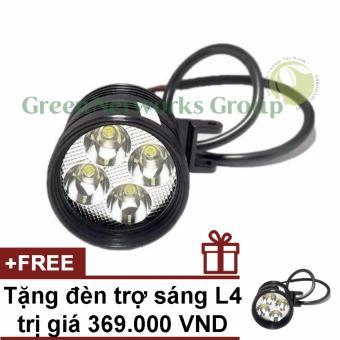 Đèn pha led trợ sáng xe máy phượt L4 GNG + Tặng đèn L4