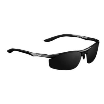 Fancyqube Men's Aluminum-magnesium Polarized Mirror Sunglasses Black (Intl)