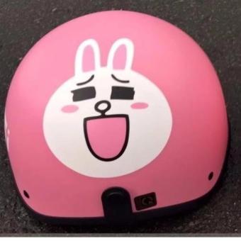 Mũ bảo hiểm hình thỏ (Hồng)