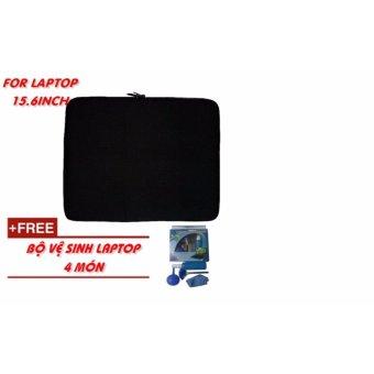 Túi chống sốc Laptop 15.6 Inch + bộ vệ sinh Laptop 4 món