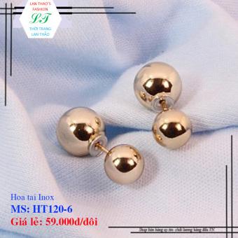 Hoa tai Inox Dior ngọc trai HT120-6
