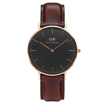 Đồng hồ nữ dây da Daniel Wellington DW00100137 (Nâu Đen)